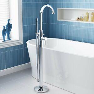 Floorstanding Freestanding Bathroom Taps Bath Tub Shower Mixer Tap Luxury Modern