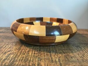vintage wooden fruit bowl