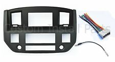 NEW 2006-2009 Dodge Ram Radio Double Din Dash Install Bezel Kit Black Slate Grey