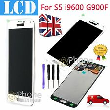 FOR SAMSUNG SM-G900F GALAXY S5 WHITE SCREEN AMOLED FHD LCD DISPLAY FULL ASSEMBLY