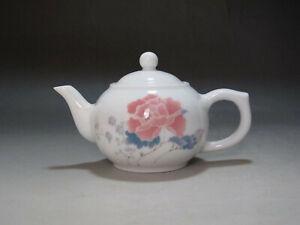 TH0073 China Handmade first class famille rose Porcelain Teapot Jingdezhen mark