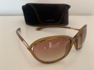 TOM FORD Damen Sonnebrille JENNIFER braun transparent