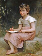 WILLIAM ADOLPHE BOUGUEREAU A CALLING 1896 OLD MASTER ART PAINTING PRINT 3101OMA