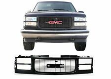 Replacement All Black Paintable Grill For 1994-1999 GMC Sierra New Free Shipping