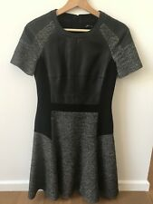 Karen Millen Graphic Skater Dress with Faux Leather Panel