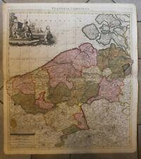Flandriae comitatus Flandre Belgique gravure XVIIème siècle carte map
