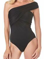 Magic Suit BLACK Solid Goddess Underwire One-Piece Swimsuit, US 12