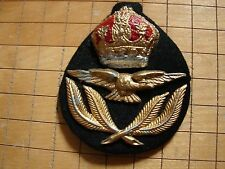 Original WW2 British RAF Officer Hat Device Insignia - Wartime Casting