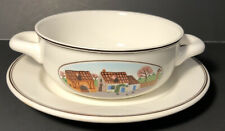 Villeroy & Boch Design Naif Cream Soup Bowl with Handles Country Collection