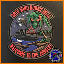 """36th Wing Boonie Intel PVC Patch """"Welcome to the Jungle"""" Andersen AFB Guam USAF"""