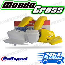 Kit plastiche cross mx POLISPORT Giallo Bianco SUZUKI RM 125 2003 (03)!