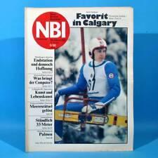 DDR NBI 6 1988 Computer Calgary Brecht Miß Albena Erdgastrasse Plastmodellbau Q