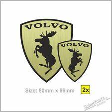 NEW 2x VOLVO Elch Elk Moose Stainless S/V40 V50 S60 S/V70 V60 XC60/70/90 C30 C70