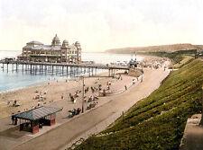 gVintage Edwardian Seaside Photochrome Photo Reprint Colwyn Bay 2 A4