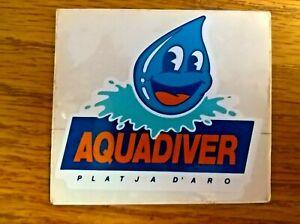 Platja D'Aro Spain Aquadiver souvenir window car sticker unused