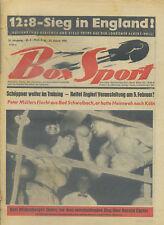 Zeitschrift Box Sport 35. Jahrgang 1961 Nr. 4 Schöppner Englert Mildenberger