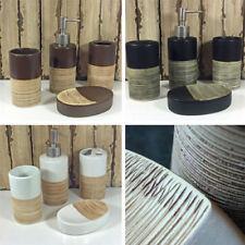 Soap Dish/Dispenser Striped Bath Accessory Sets