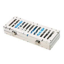 Dental Autoclave Cassette Sterilization Box Rack Tray Rack Rubber 5 Instruments