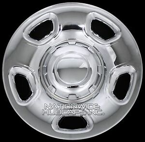 "4 CHROME 04-12 Ford F150 17"" Wheel Skins Hub Caps Simulators Hubs Lug Rim Covers"