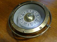 Ancien Compas sec Compass marine en laiton