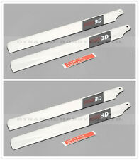 2X Pairs T-REX 450 RC Helicopter 325mm PRO3D Carbon Fibre Main Rotor Blades