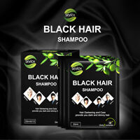 New Fast Black Hair Shampoo Only 5 Minutes White Become Black Hair Color 5pcs