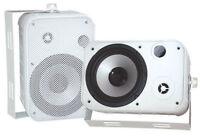 "Pair New Pyle PDWR50W 6.5"" Indoor/Outdoor Waterproof Speakers White"