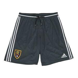 Real Salt Lake MLS Adidas Men's Logo Patch Dark Grey Adizero Practice Shorts