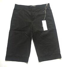 NWT $680 Marni Men's RUNWAY Black Oversized Cotton Long Shorts 28 44 AUTHENTIC