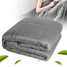 "60""x80"" 15lb Gravity Heavy Blanket Adult Kids Sensory Anxiety 100% Cotton Fabric"