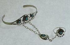 Slave bracelet   Indianer- Türkisschmuck   .925  Silber   # 1260