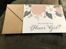 Flower Girl Proposal Card With Envelope