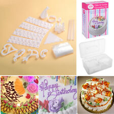 100 Piece Set Birthday Wedding Cake Cupcake Cookie Decorating Craft Design Kit