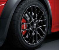 """MINI Genuine JCW 17"""" Alloy Wheel Cross-Spoke Challenge R112 Black 36116795208"""