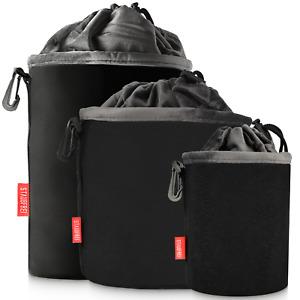 Neopren Kameratasche Kamerabeutel Fototasche Kamera Schutz Tasche mit Fleece