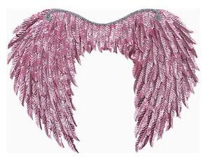 "Metallic Light Pink Fantasy Wings Angel Fairy Adult 20"" Span Costume Accessory"