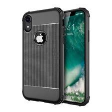 iPhone X / Xs Hoesje Cube Cover Zwart Premium Shockproof Case Hoesjes Cases
