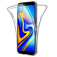 Samsung Galaxy A20 A30 A50 Case 360°Shockproof Full Soft Clear Silicone Cover