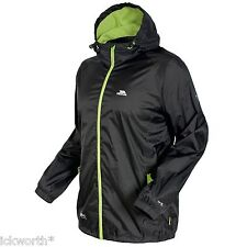 Trespass Mens Qikpac Waterproof Packaway Jacket Black 2xl