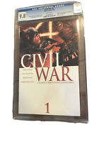 CIVIL WAR #1 FIRST PRINT CGC 9.8 MARVEL COMICS Cracked Slab