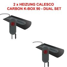 2x Dual Set Wasserbett Heizung Calesco Carbon K-Box 90 PTC Analog 250 Watt