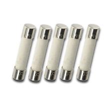 Pack of 5 MDA 8A (BK/MDA 8A) 125V/250v Slow Blow Ceramic Fuses, T8A 8 amp, 6x30m