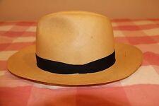 Genuine Fedora Straw Panama Hat Montecristi  made in italy  Cream  Baku