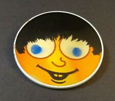 Vintage Lenticular Pinback Button Face by Dimensional Research 1963. (B)