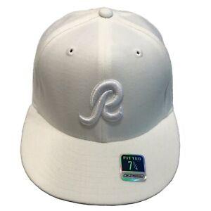 Washington Redskins NFL Reebok Tonal White On White 7 1/4 Fitted Cap Hat $30