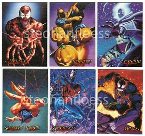 1996 Skybox Spider-Man Premium Canvas Cards You the Card Pick Finish Your Set