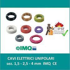 CAVO ELETTRICO UNIPOLARE FILO RAME 1,5 2,5 4 6MM LTC CPR FS17 PER IMPIANTI CASA