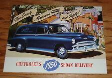 1950 Chevrolet Truck Sedan Delivery Foldout Sales Brochure 50 Chevy