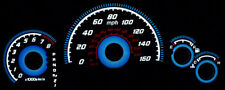 Type-R 03-07 Honda Accord Blue Glow Gauges Auto 160Mph Face Overlay New