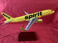Lupa Aircraft Model Spirit Airlines Airbus A320 Wood Stand 1/100 New In Box